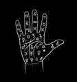 chiromancy and palmistry chart with signs