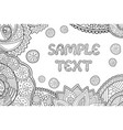 coloring book page with copy space sample text vector image
