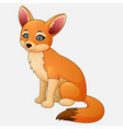 cute fox cartoon sitting vector image