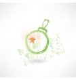 decoration on Christmas tree grunge icon vector image vector image