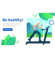 design website be healthy old man runs vector image vector image