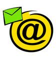 e-mail sign icon icon cartoon vector image vector image