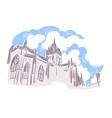 edinburgh united kingdom europe sketch city line vector image vector image