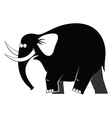 Elephant moving vector image vector image