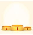 Empty Podium Round Winners Pedestal vector image vector image