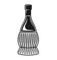 fiasco bottles wine isolated object vector image
