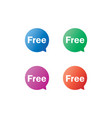 free label tag bubble set vector image vector image