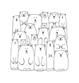 Funny white bears family sketch for your design vector image