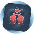 gesture finger heart korean love sign vector image vector image