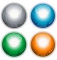 Glossy web circle buttons vector image vector image