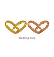 golden wedding rings vector image