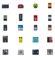 guitar effects icons set vector image vector image