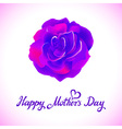 Happy Mothers Typographical Background With Roses vector image
