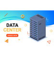 isometric data center technology server backup big vector image vector image