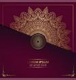 luxury gold mandala ornate background for wedding vector image vector image