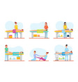 massage therapy and treatment icons set vector image