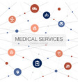 medical services trendy web template with simple vector image vector image