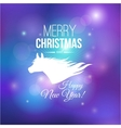 Merry Christmas and Happy New Year 2014 card vector image vector image