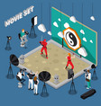movie set isometric vector image vector image