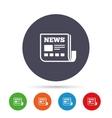 News icon Newspaper sign Mass media symbol vector image