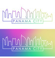 panama city skyline colorful linear style vector image vector image
