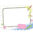 photo frame with dragonfly vector image vector image