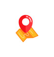 pin location icon with map design pin map sign vector image