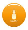 pineapple icon orange vector image vector image