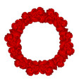red carnation flower wreath vector image vector image