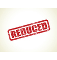 reduced stamp vector image vector image