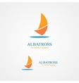 Sailboat design logo vector image