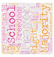 School Prayer Right Or Wrong text background vector image vector image