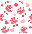 Seamless baby carriages pattern background vector image vector image