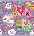 seamless pattern with love icons vector image vector image