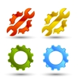 Service icon set vector image vector image