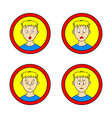set of comic boy vector image