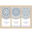 Set of ethnic banners vector image