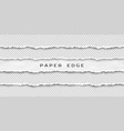 set torn horizontal seamless paper stripes vector image vector image