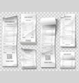 shopping receipt retail store purchase receipts vector image