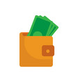 simple money wallet vector image vector image