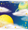 Space scene with planets and stars vector image vector image