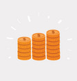 stack golden coin like income vector image vector image