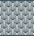 stained glass art deco seamless pattern gray blue vector image vector image