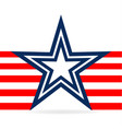 star and red stripes usa icon vector image vector image