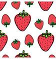 strawberry fruit pattern background vector image