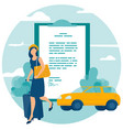 travel and car insurance concept vector image