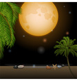Tropical moonlight over sandy beach vector image vector image