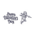 valentines day and angel with a grenade launcher vector image vector image
