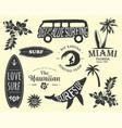 variety summer emblems set vector image vector image