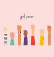 womens hands girl power feminism symbol vector image vector image